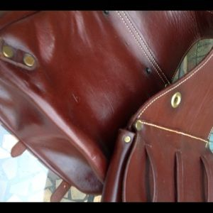 Leather Saddlebag Motorcycle Horse Rider for sale